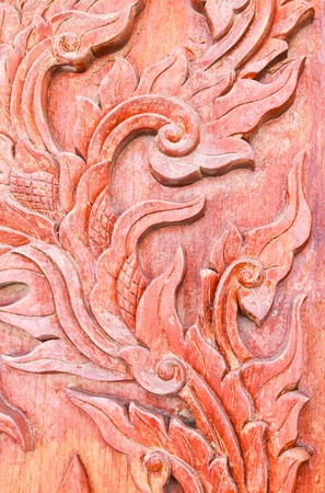 Carved wood in thai style Stock Photo