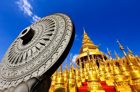 Pagodas of wat pasawarngboon,Thailand Stock Photo