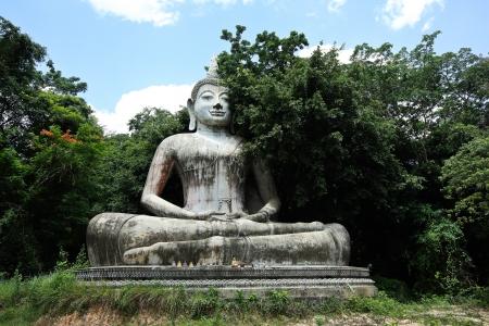 damp proofing: Buddha statue