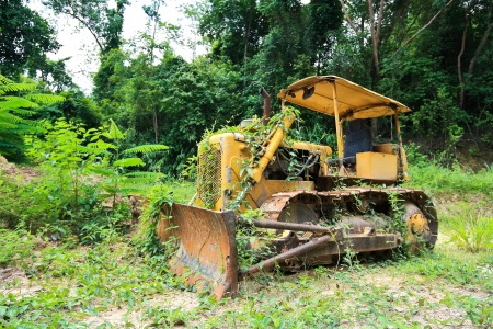 Old bulldozer photo