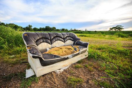 Old sofa Stock Photo