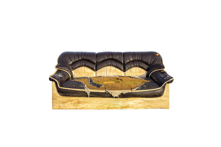 Old sofa on white background Stock Photo