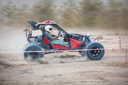 ramping: Buggy car in dirt track
