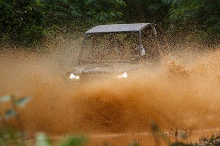 Mud splash in off-road racing