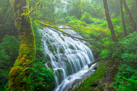Waterfall in Doi Inthanon National Park, Chiangmai THAILAND Stock Photo