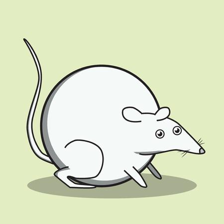 rata caricatura: estilo del niño rata carácter