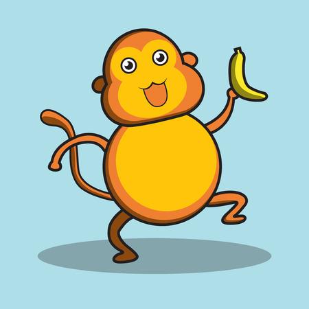 primate: Monkey character kid style