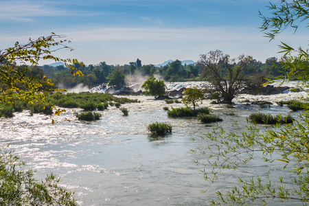 wide wet: Konpapeng waterfall is a famouse waterfall in Laos.