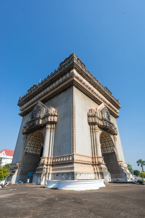 Patuxai arch monument, Vientiane, the Capital of Laos. this is landmark of lao pdr.