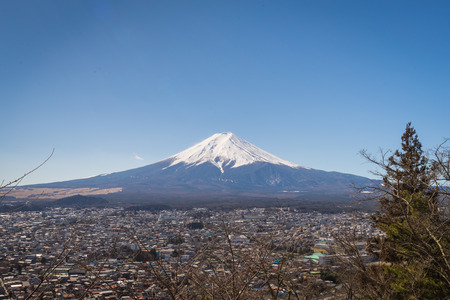 sengen: Fuji mountain in Japan. this mountain is the most famous for tourist and traveler. Stock Photo