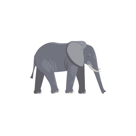 Cartoon style icon of elephant. Cute character for different design. Vector illustration. Standard-Bild - 123474141