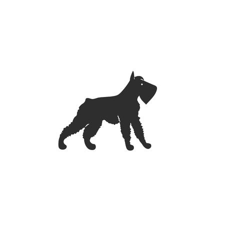 Icon of mittelschnauzer. Cute family dog. Vector. Stock Illustratie