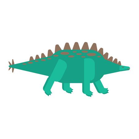 Flat icon of Stegosaurus. Pictogram of dinosaur. Vector.