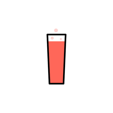 Food icon line style. Outline pictogram of restaurant, kitchen, home. Glass with compote bubble or soft drink. Vector.