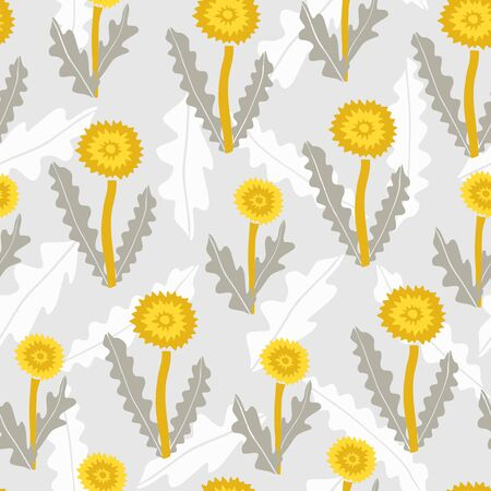 Seamless pattern with creative decorative dandelions in scandinavian style. Great for fabric, textile. Vector background