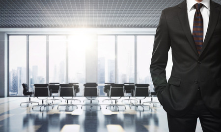 Busineesman in contemporary office Stock Photo