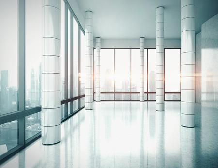 Kancelář interiéru. 3D vykreslování.