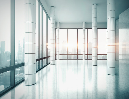 Ufficio interno. Il rendering 3D. Archivio Fotografico - 39757351