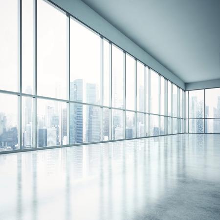 ホワイト オフィスのインテリア。3 D レンダリング 写真素材 - 40130327