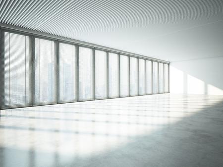 panoramic windows: Panoramic windows in office interior