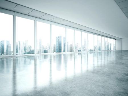 Intérieur blanc de bureau. Rendu 3D Banque d'images - 40130276