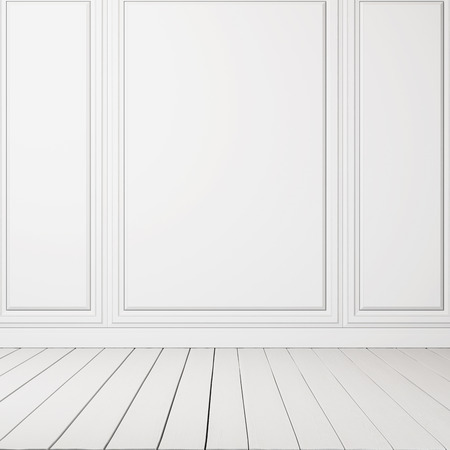 blank canvas: Blank canvas on a wall. 3D rendering Stock Photo