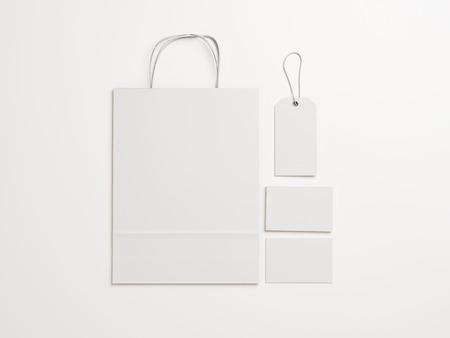 空白のアイデンティティの要素のセットです。3 D レンダリング