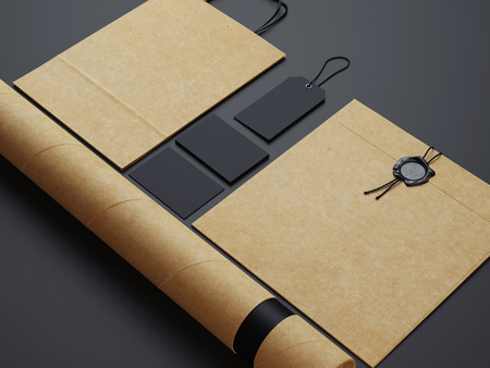 recycled paper: Set of blank identity elements
