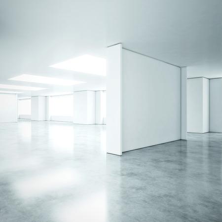 Witte kantoor interieur. 3D-rendering Stockfoto