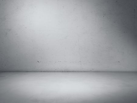 コンクリートのスタジオ ルーム。3 d レンダリング