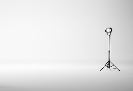 photo studio background: Photo studio with equipment. 3D rendering Stock Photo