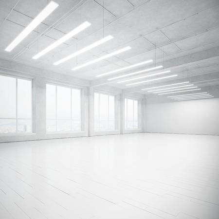 White office interior. 3D rendering