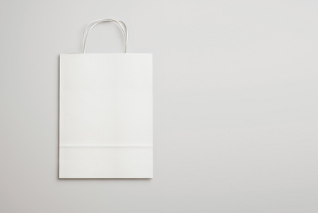 Blank paper bag with handles. 3D rendering Stockfoto
