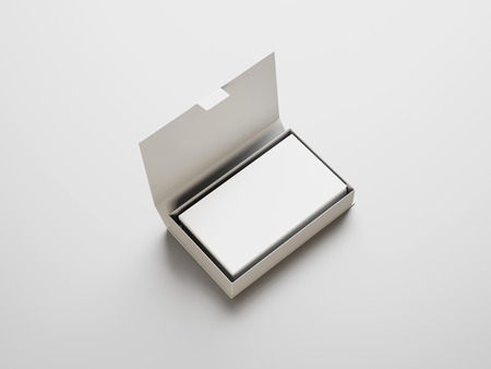 白のビジネス カード ボックスで