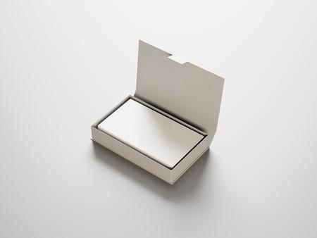 Witte visitekaartjes in de witte doos