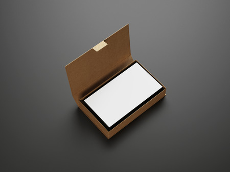 White business cards in the box