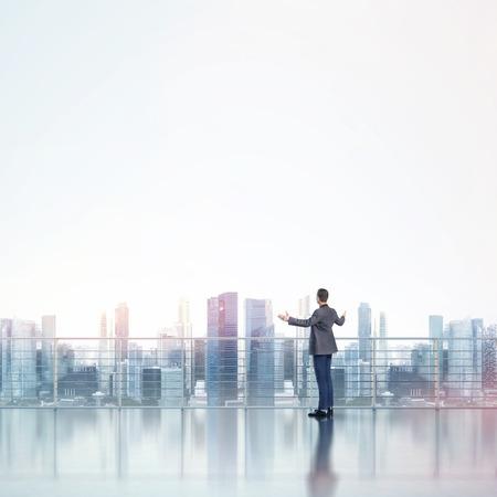 megalopolis: Businessman looking megalopolis