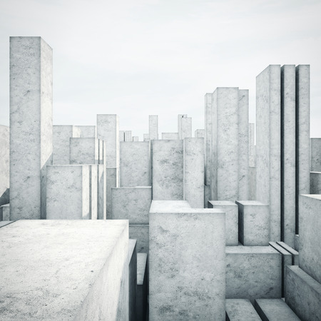 concrete structure: Abstract model of a city