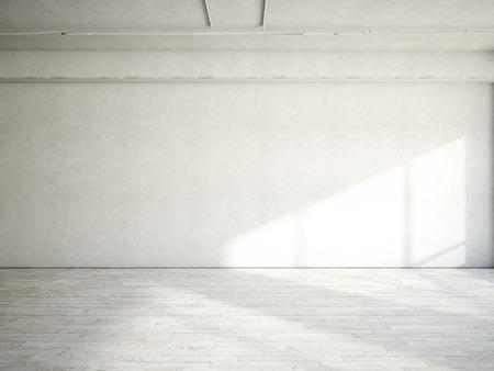 empty glass: Interior de la oficina blanca. Representación 3D