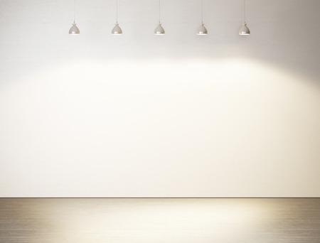 壁の装飾的なビンテージ ランプ。3 D レンダリング 写真素材