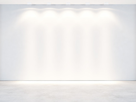 blank wall: White office interior. 3D rendering
