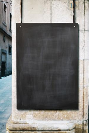 black empty board: Chalk board mockup