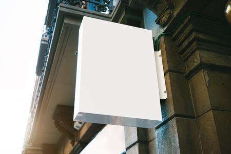 Blanck lightbox on the wall