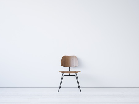 Vintage chair on the white background. 3d render