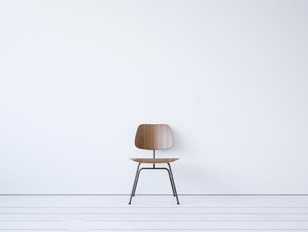 Vintage stoel op de witte achtergrond. 3D render Stockfoto