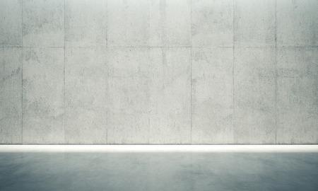 空白コンクリート内壁のホワイト ライトを。