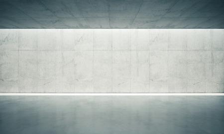 Blank espacio concreto de la pared interior con luces blancas. Foto de archivo