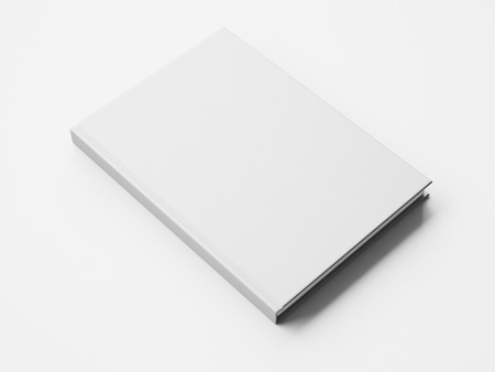 exhibition: Mock up of blank white book. 3d rendering