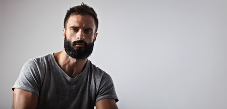 Close-up portrait of a handsome bearded man Stok Fotoğraf - 45149857