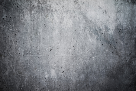 Highly detailed and empty concrete wall. Gray background, horizontal Banco de Imagens